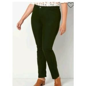 Christopher & Banks Plus 16 Corduroy Pants Green
